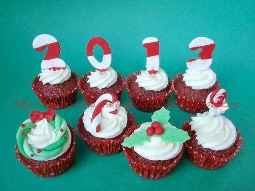 Red velvet cupcakes capodanno 2