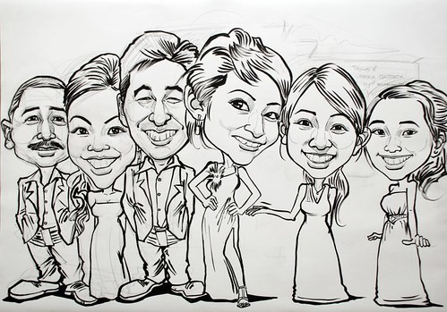 group caricatures for Vacheron Constantin - outline