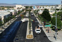 Lancaster Blvd as the project neared completion (courtesy of city of Lancaster)