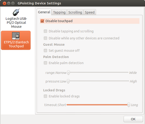 GPointingDeviceSettings