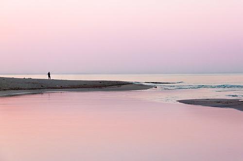 Pescatore all'alba sulle foci del fiume Chidro - San Pietro In Bevagna - Taranto - Italy [ Explored Jan 4, 2013 #56] - 無料写真検索fotoq