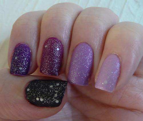 purple ombre matte glitter 1