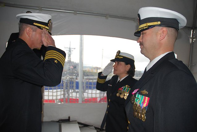 USS Shoup Change Of Command Ceremony on December 12, 2012