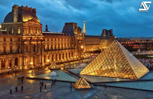 sunset paris france seine french nikon europe louvre eiffeltower eiffel ag napoleon palais capitale nikkor fontaine pyramide hdr rivoli parisian pavillon anto bassin d800 louisxiv xiii parisien 2470 antoxiii agphotographe