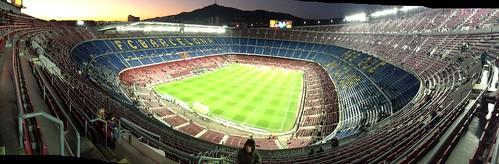 vista del Camp Nou desde nuestro sitio