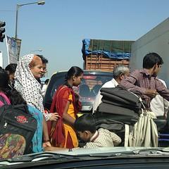 Traffic Jam in the slum - Dharavi - Mumbai