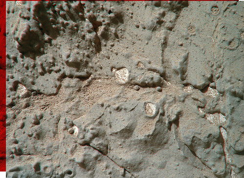 """CURIOSITY sol 154 MAHLI anaglyph """"solidified flow"""""""