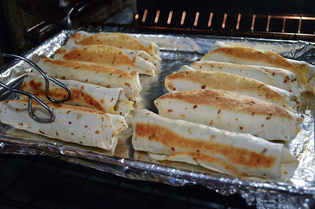 A delicious chicken filling and an oven-fry method create these lightened up Baked Chicken Taquitos.