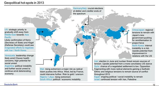Geopolitical hotspots 2013