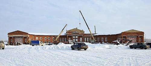 Строительство музейно-просветительского центра в Тарханах. Январь 2013 года