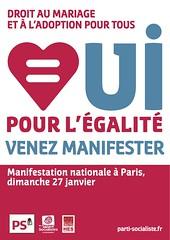 Oui pour l'égalité le 27 janvier - l'affiche personnalisable