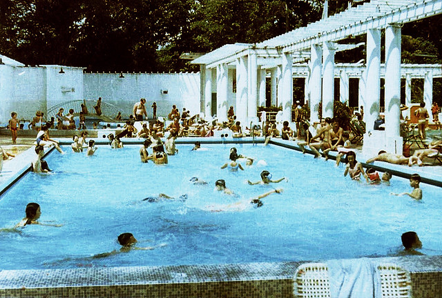 Pool at the Cercle Sportif in Saigon, ca 1969