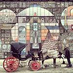 A man, a horse, a mosaic -- blows my mind in Alexandria , #Egypt