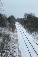 Winter Railway in the Snow