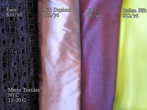 Metro Textiles NYC 11-2012