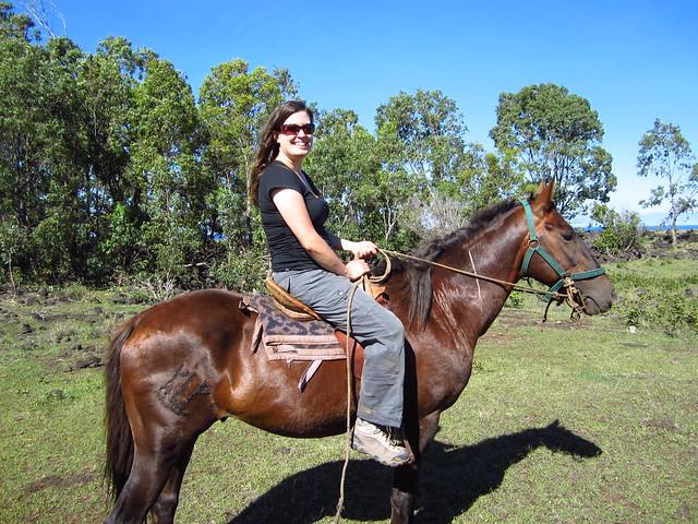 Posing on my horse!