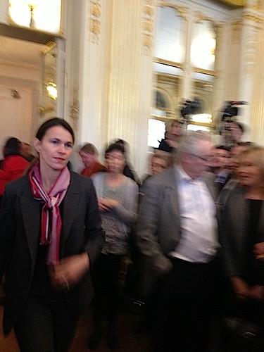 Aurélie Filippetti, ses voeux à la presse pour l'année 2013