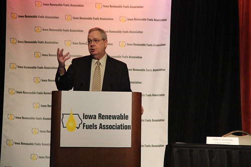 "Under Secretary for Rural Development Dallas Tonsager describes Secretary Vilsack's ""All of the Above"" energy strategy during the Iowa Renewable Fuels Summit. USDA photo."
