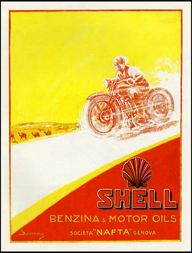 1930's Shell Oil Italia by bullittmcqueen