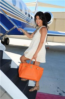 Kourtney Kardashian Neon Handbag Celebrity Style Women's Fashion