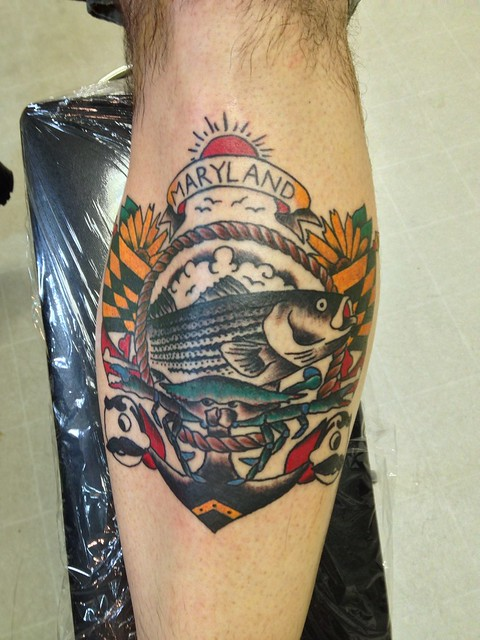 American traditional crab tattoo for Blue crab tattoo