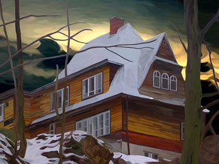 House on the Hill - Winter