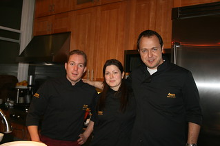 Chef Abel, Assistant Ana and Daniel of Aneto
