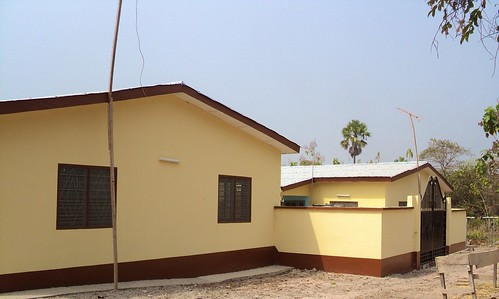Catholic Clinic Oku, Ghana. The newly-constructed nurses quarters at the Clinic