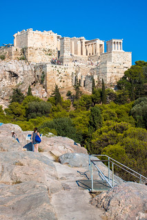 Obraz Areopagus. 2016 acropolis areopagus athens greece lightroom propylon rock stairs steps templeofathenanike athina atticaregion