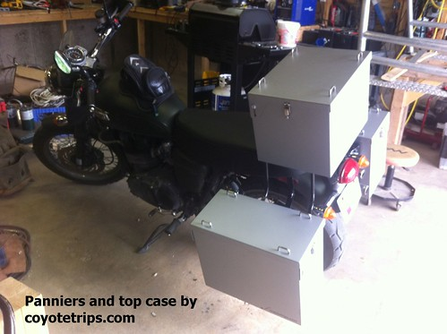 triumph scrambler panniers luggage boxes coyotetrips topcase topbox cases sidecases