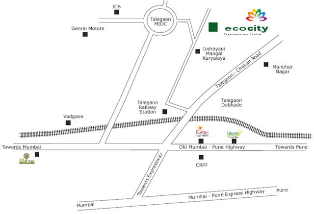 Location Map - Namrata Eco City - 1 BHK 2 BHK Economical Flats - Talegaon MIDC