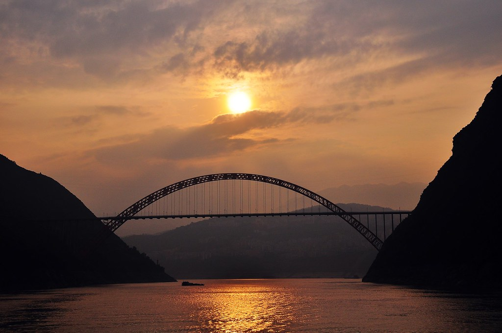 Yangtze River Sunset, China