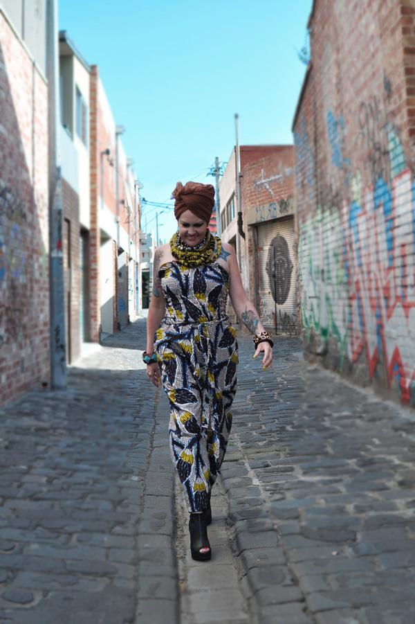 Kazzthespazz.com | Wax Print Jumpsuit
