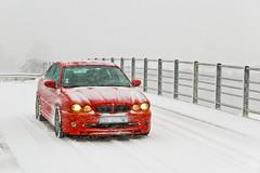 Baptême de neige pour ma Jaguar !