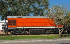 Tren de azucar pasando por el pueblo. Camajuaní 2007