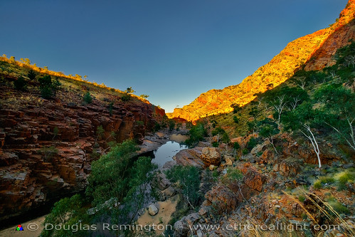 Sunrise, Ormiston Gorge, Australia. by Douglas Remington - Ethereal Light™ Photography