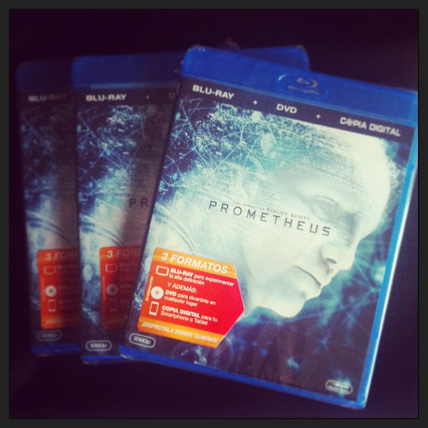 El regalo de este concurso... tres ediciones en Blu-Ray de Prometheus