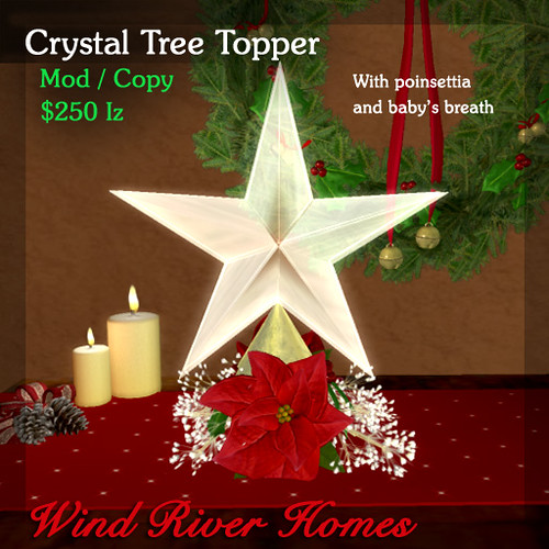 Crystal Star Tree Topper by Teal Freenote