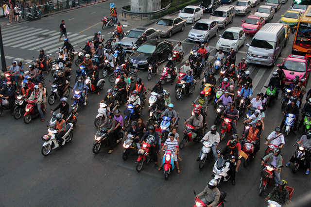 Bangkok traffic on Ratchaprasong