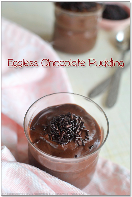 Eggless Chocolate Pudding Recipe