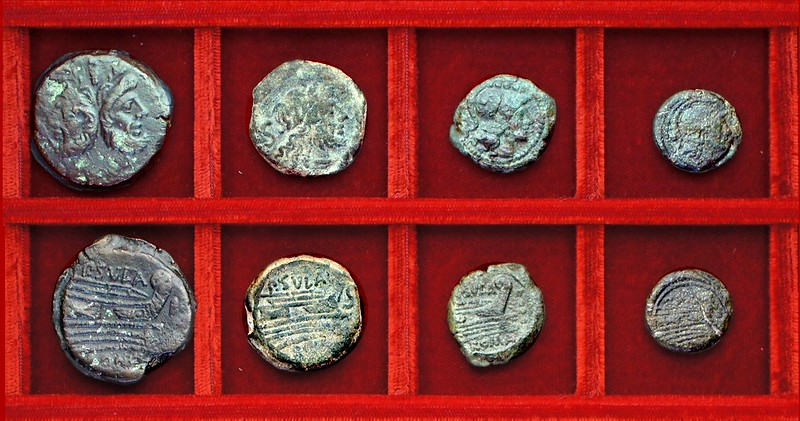 RRC 205 P.SVLA Cornelia bronzes, Ahala collection, coins of the Roman Republic