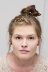 layered hair(0.0), braid(0.0), face(1.0), hairstyle(1.0), chignon(1.0), bun(1.0), head(1.0), hair(1.0), ear(1.0), brown hair(1.0), blond(1.0), eyebrow(1.0), forehead(1.0), eye(1.0), organ(1.0),