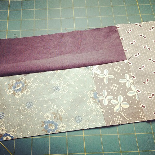 Trying improv piecing for the first time #quilting
