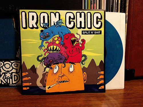 "Iron Chic - Shit N' Split 7"" = Blue Vinyl (/100) by Tim PopKid"
