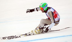 Dustin Cook in action during World Cup super-G in Val Gardena, Italy.