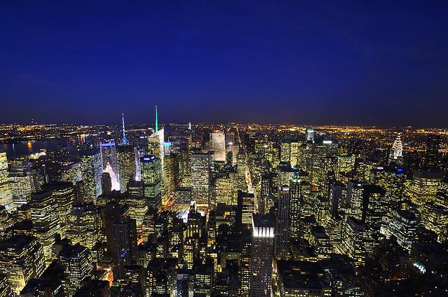 Hora mágica desde el Empire State de Nueva York