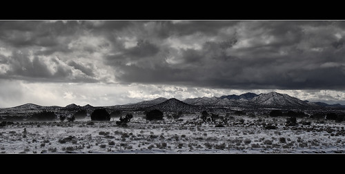 winter panorama snow newmexico santafe lacienega ortizmountains lacieneguilla