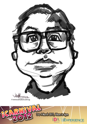 digital live caricature for iCarnival 2012  (IDA) - Day 1 - 55