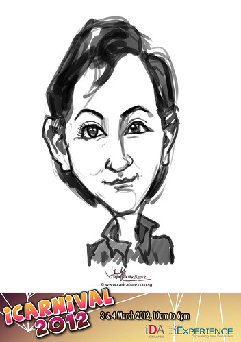 digital live caricature for iCarnival 2012  (IDA) - Day 2 - 4