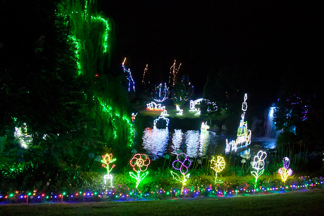 Christmas lights Hunter Valley Gardens